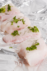 Raw monk fish