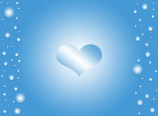 Blue Heart Background