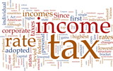 Income tax word cloud poster