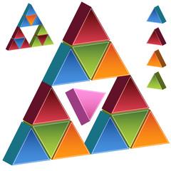 Pink Triangle Pyramid