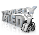 Not Disabled - Uniquely Abled poster