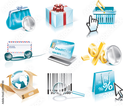 Vector shopping and Consumerism icon set