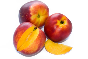 Three nectarines and segment