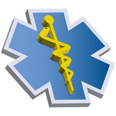 3d medical sign