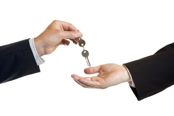 hand-over of keys - Schlüsselübergabe
