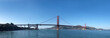 Panorama of Golden Gate Bridge in San Francisco