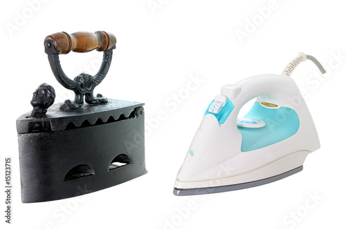 Evolution du fer repasser de thieury photo libre de droits 15123715 sur - Evolution du fer a repasser ...