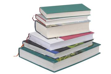 Dicke Bücher aufeinander gestapelt