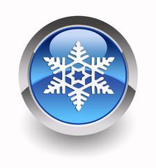 Snowflake glossy icon