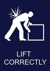Mandatory Lift Correctly Sign