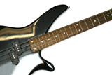 Fragment of black  Bass Electric Guitar With Four Strings, isola poster