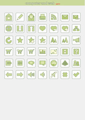 Vector Icons for Web Applications and for computer - PART 2