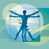 Physiotherapie - Menschliche Proportionen poster