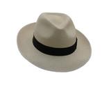 A Gentlemans Brand New White Straw Summer Hat. poster