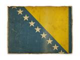 grunge flag of Bosnia and Herzegovina poster