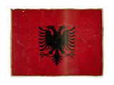 grunge flag of Albania poster