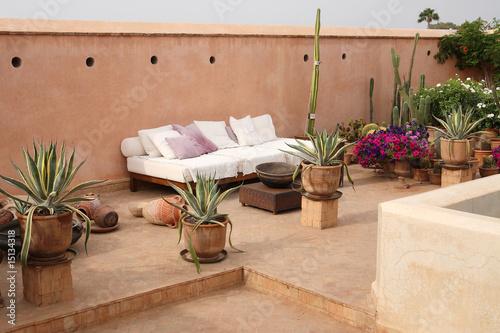 maroc terrasse sur toit photo libre de droits sur la banque d 39 images image. Black Bedroom Furniture Sets. Home Design Ideas