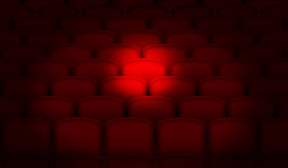 Spotlight on cinema seats