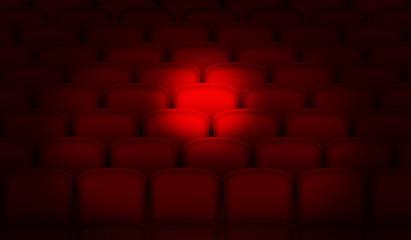 Spotlight on cinema seats