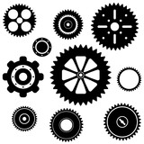 industrial gear wheel set poster