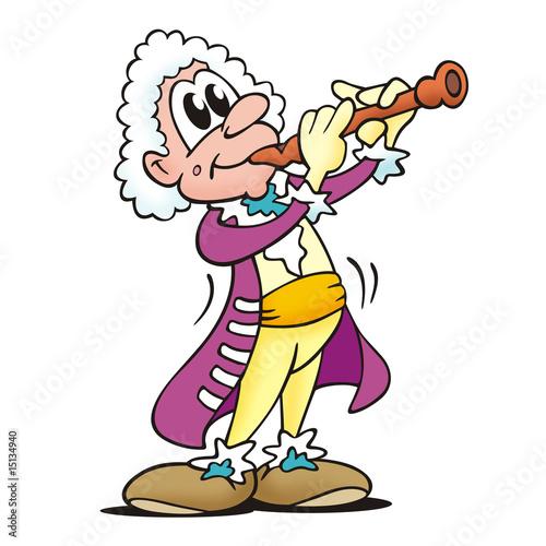 Barock Flötenspieler