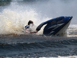 Man on jet ski in the water