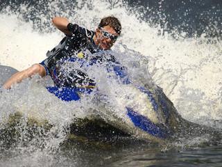 Dives Man on jet-ski