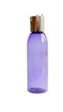 Violet transparent deodorant spray bottle isolated poster