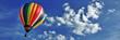 canvas print picture - Nuages et ballon