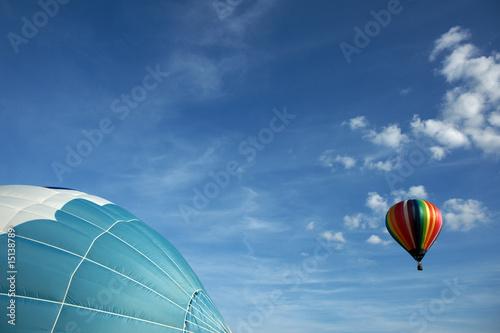 Deurstickers Ballon Voiles et ballons