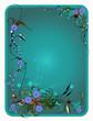 Bright turquoise frame. Vector illustration.