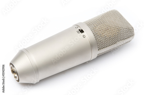 The big microphone on a white background