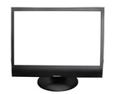 computer monitor on a white background