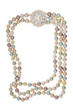 Frame of necklace with a brooch poster