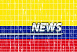 Flag of Colombia news poster