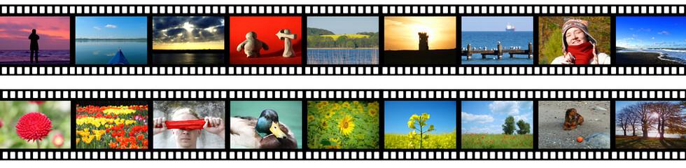 Negativstreifen mit 18 Bildern