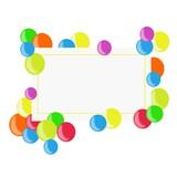 biglietto virtuale con sfere colorate poster