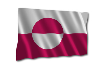 Grönland Flagge Flag of Greenland