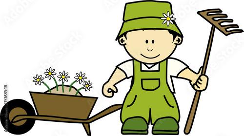 K jardinier 17 fichier vectoriel libre de droits sur for Jardinier tarif