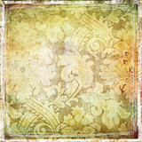 vintage golden shabby patterns poster