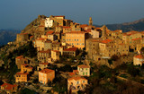 Old village in Corsica in the late afternoon