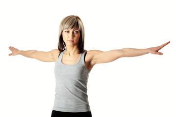 Sportswoman Exercising