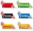 Etiquettes Cadeaux multicolores