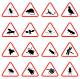 rodent and pest with warning signs poster