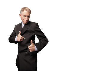 Thumbsup businessman