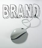 souris connectée usb mot brand poster