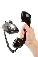 Black telephone Receiver