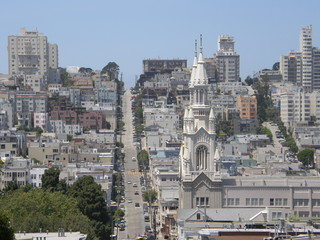 St Peter & Paul Church and San Francisco City
