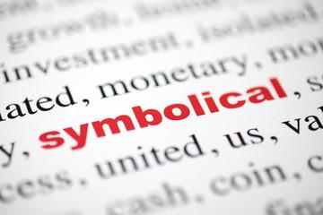 mot symbolical symbolique rouge texte flou