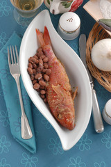 Triglie di scoglio ai fagioli - Secondi pesce Emilia Romagna
